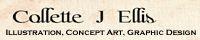 Link Banner: Collette J. Ellis: Illustration, Concept Art, and Graphic Design