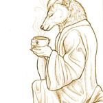 """Not a morning jackal."" Auric Starstryder (http://www.furaffinity.net/user/canisaureus)"