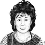 A portrait of a lady.