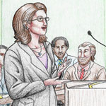 """""""The Public Defender."""" Short hair variation."""