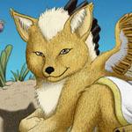 Auric Starstryder (http://www.furaffinity.net/user/canisaureus) as a puppy.