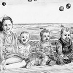 Grandchildren at Christmas.