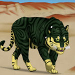 Scirei is actually one of my characters. It was requested to draw her stalking the hardened deserts she lives near.
