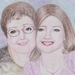A portrait of a mother and daughter for a Mother's Day gift.