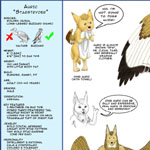 Auric Starstryder (http://www.furaffinity.net/user/canisaureus). Mr. Starstryder and I have worked together for a few years and he has also worked with many other artists. We all agreed we needed one thing: a good reference sheet. What started as a gift to Mr. Starstryder turned into a three month project between us to make The One Refsheet. It is an ever-expanding image file with drawings from the first in 2013 to the present. This is the most recent rendition.